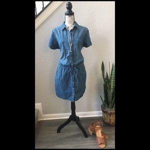 Gap Chambray Short Sleeve Dress